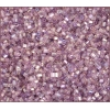 2 Cut Bead Transparent Light purple Aurora Borealis 10/